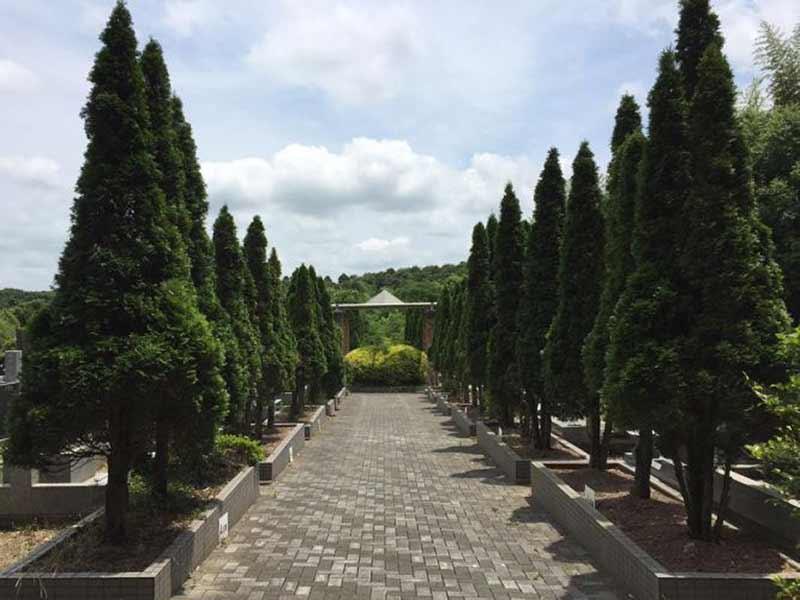成田の杜公苑 平坦な参道