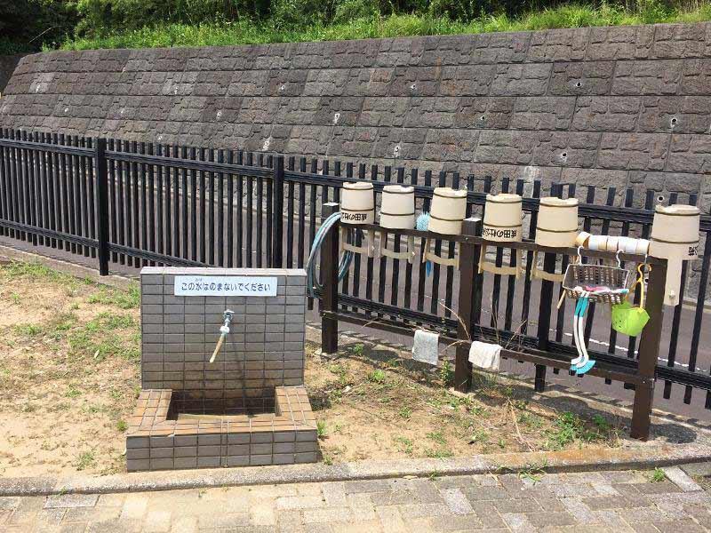 成田の杜公苑 水汲み場と参拝道具