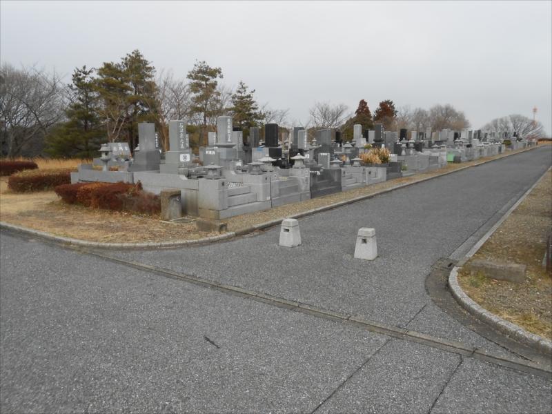 市原市営 海保墓園 開放感のある園内