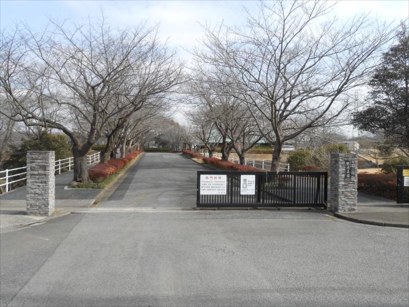 市原市営 能満墓園 広い入り口