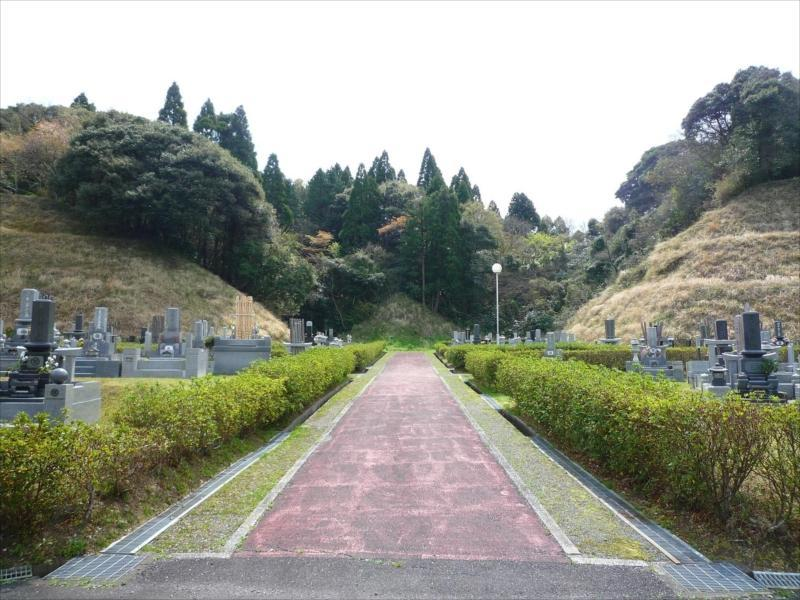 一宮町営 宮の森霊園 広い参道
