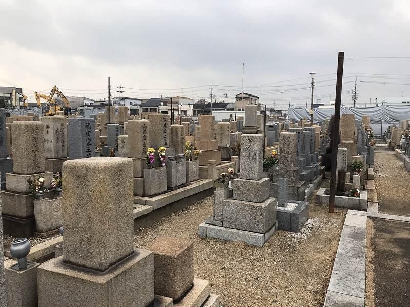 東大阪市営 長瀬墓地 和型墓石