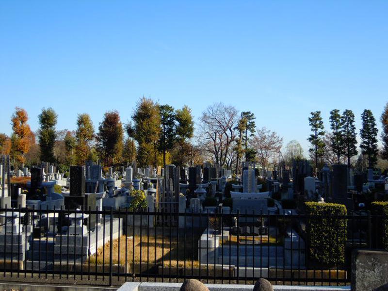 羽村市営 富士見霊園 緑豊かな墓域