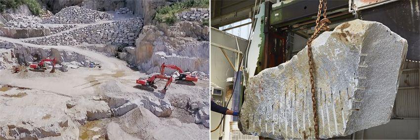 原石からお墓が完成するまでの加工工程