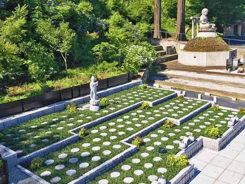 武蔵高尾樹木葬墓地 日当たりが良く明るい墓域