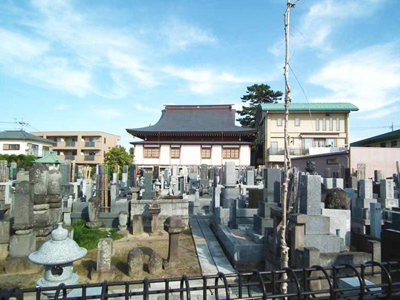 地蔵院墓苑 住宅街にある墓域