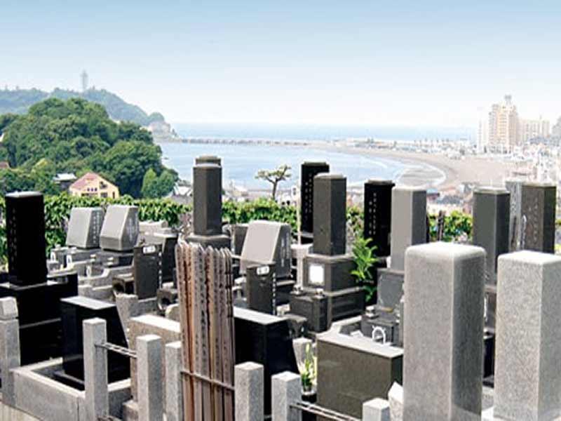 鎌倉富士見墓苑 見晴らしの良い墓域