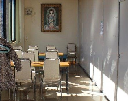 メモリアルガーデン新座 管理事務所内休憩スペース