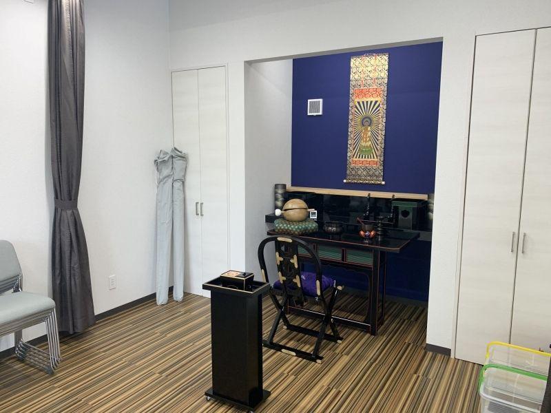 川口中央霊園の室内の法要施設