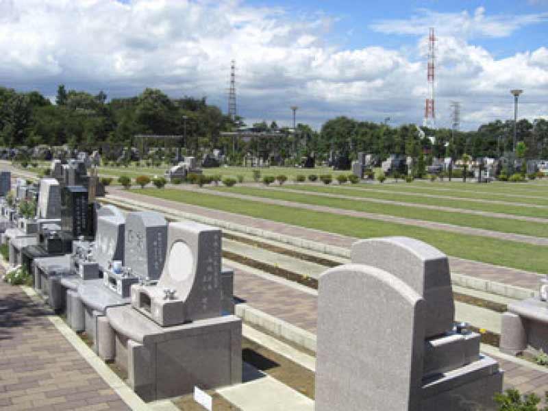 所沢シティメモリアル 開放感のある墓域