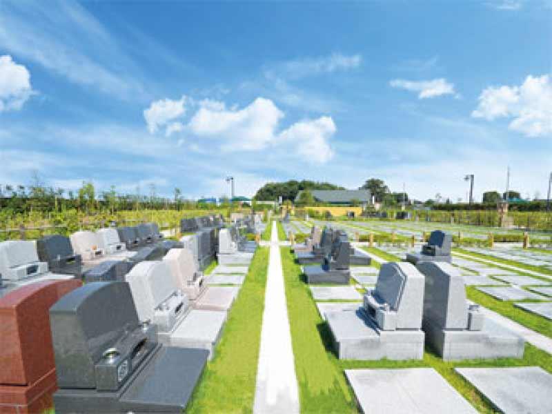 川越さくら浄苑 開放感のある芝生墓所