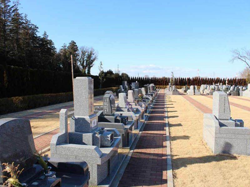 南川越霊園 日当たりのよい墓域