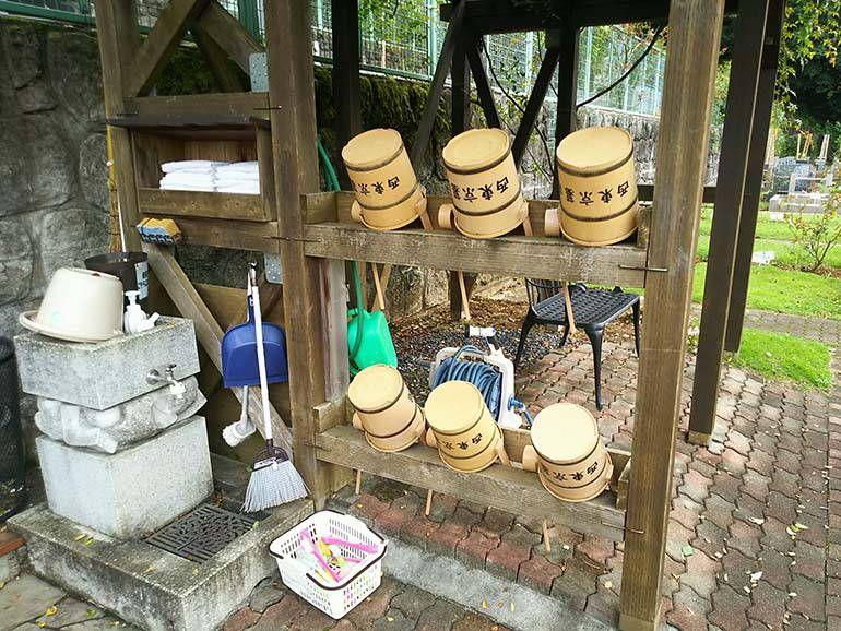 西東京墓苑 ご自由にお使いいただける清掃用具