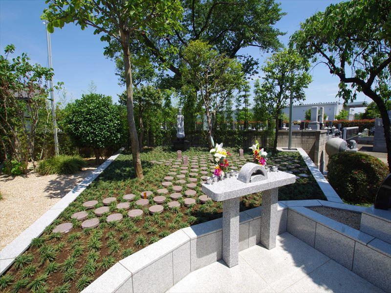 鶴ヶ島霊苑 開栄寺 永代供養墓・樹木葬 日当たりの良い樹木葬