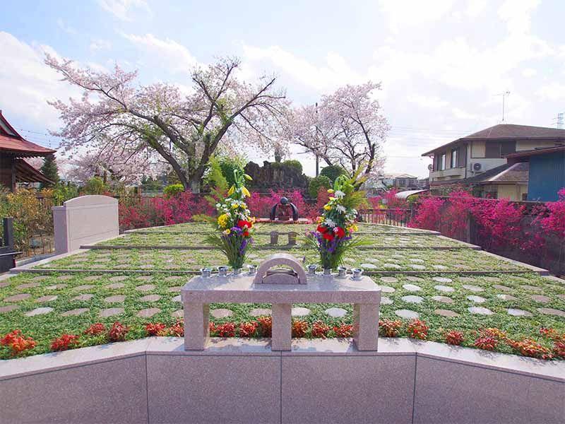 メモリアルすぎと 用中寺 永代供養墓・樹木葬 花々に囲まれた樹木葬