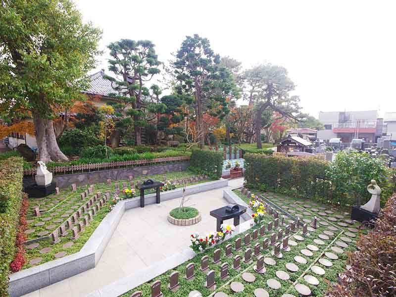 高應寺墓苑 永代供養墓・樹木葬 森林が美しい苑内全体像