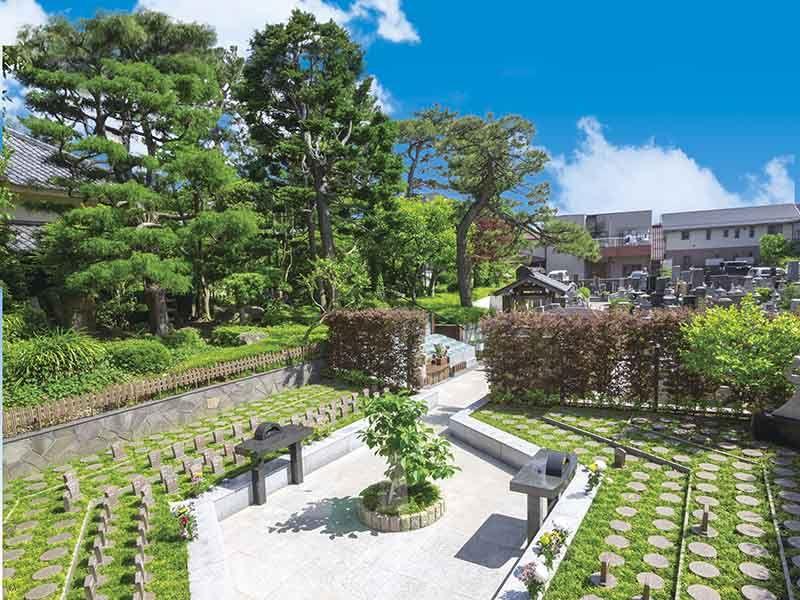 高應寺墓苑 永代供養墓・樹木葬 広々とした明るい雰囲気