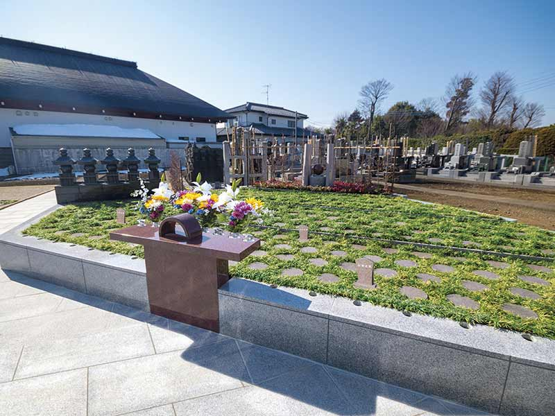 慈眼院墓苑 永代供養墓・樹木葬 日当たりのよい樹木葬区画