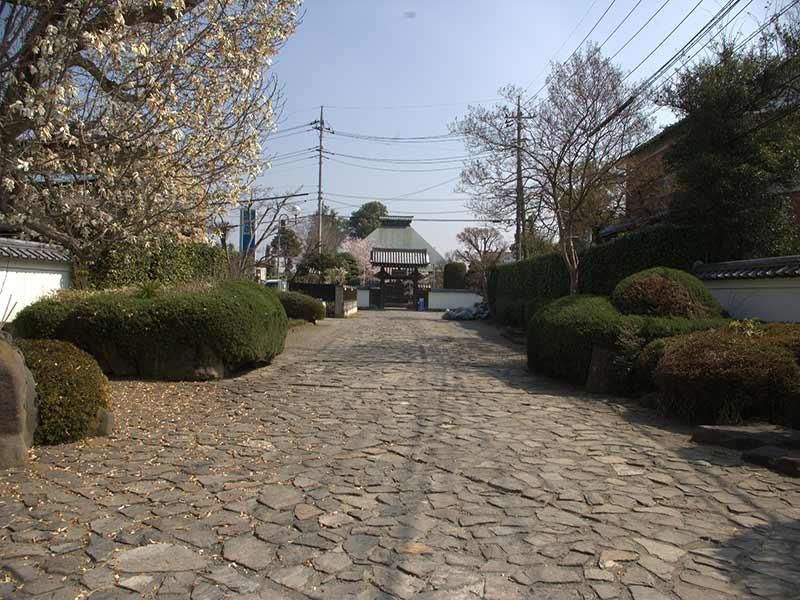 浄安寺墓苑 石畳の参道