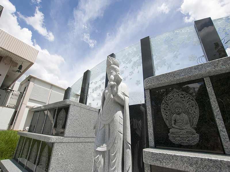 聖徳寺 しらはた浄苑 永代供養墓・樹木葬 観音菩薩像