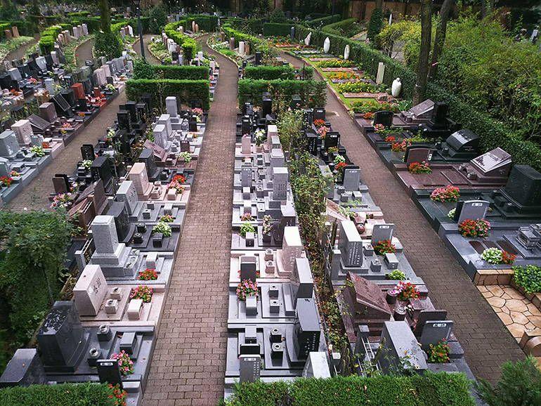 小平ふれあいパーク 広々とした墓域