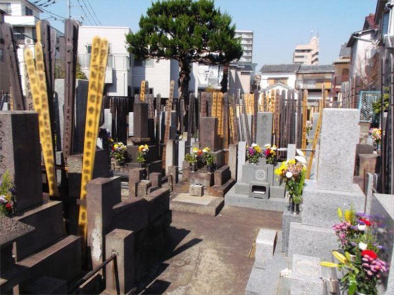 長源寺 日当たりの良い墓域