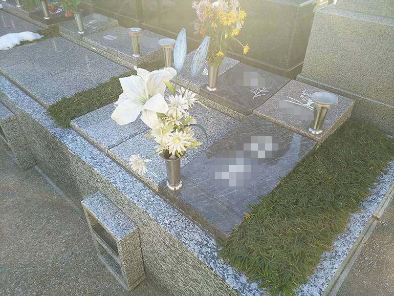 公園墓地 瑠璃光苑 樹木葬-ガーデンタイプ4型の一例
