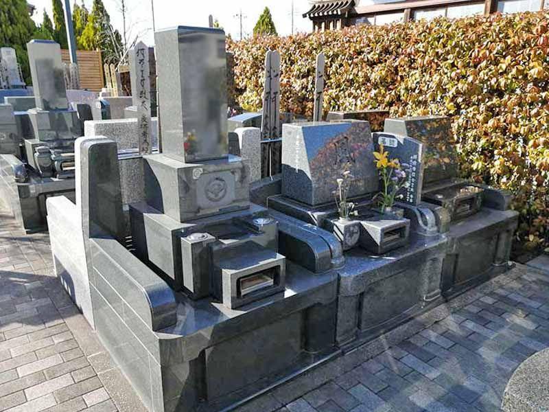 舎人浄苑 和式洋式が混在する墓域