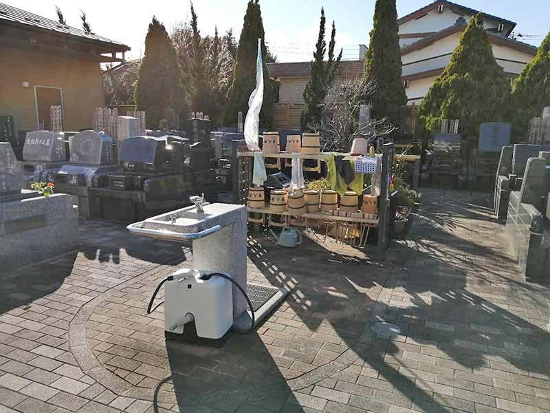 舎人浄苑 墓域内にある水汲み場