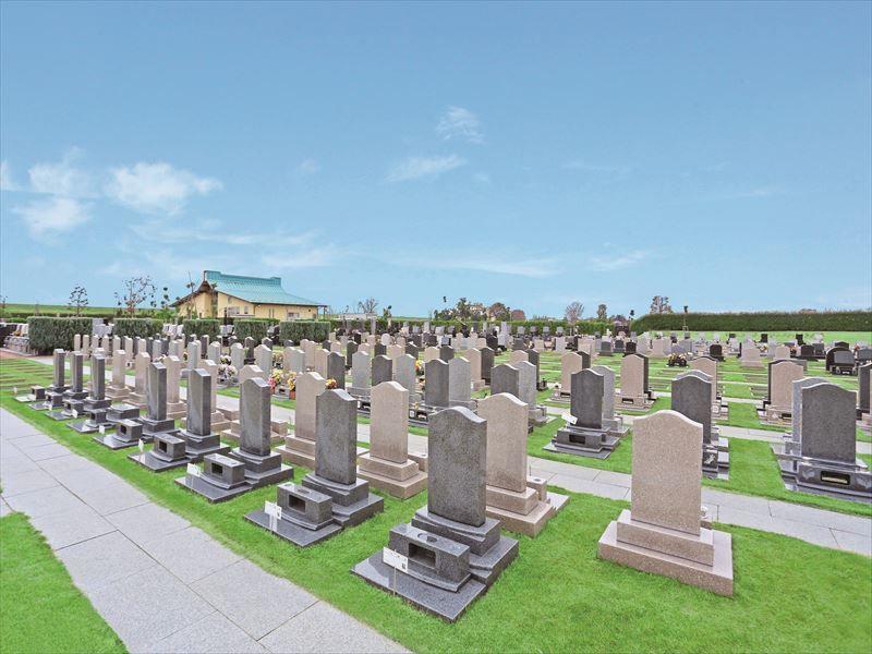 メモリアルパーク流山聖地 開放感のある芝生墓所
