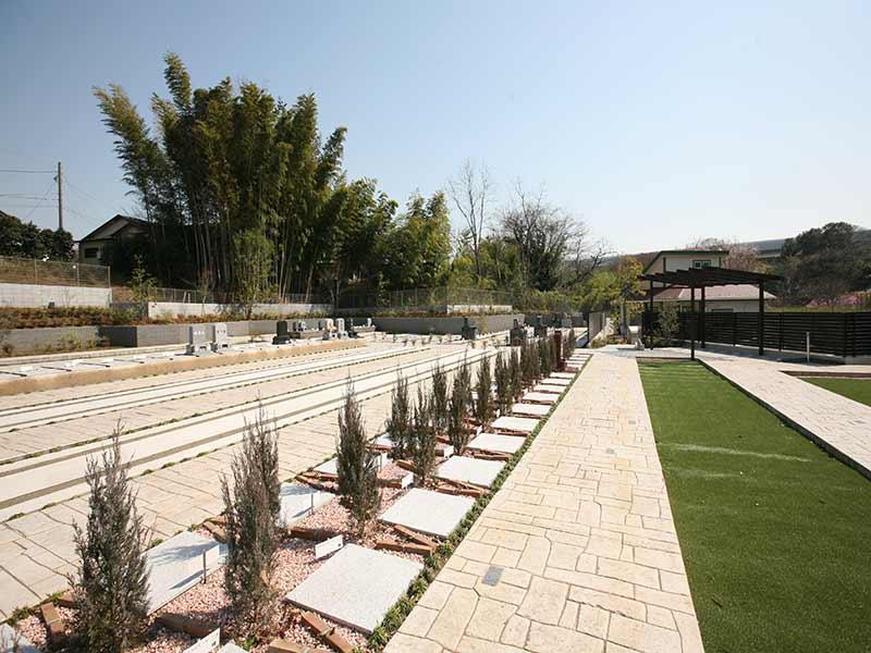 川口中央霊園の舗装された歩きやすい墓所