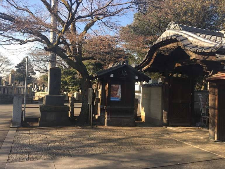 都立 谷中霊園 霊園入口