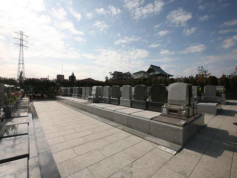 サンク川口霊園の日当たりの良い墓域