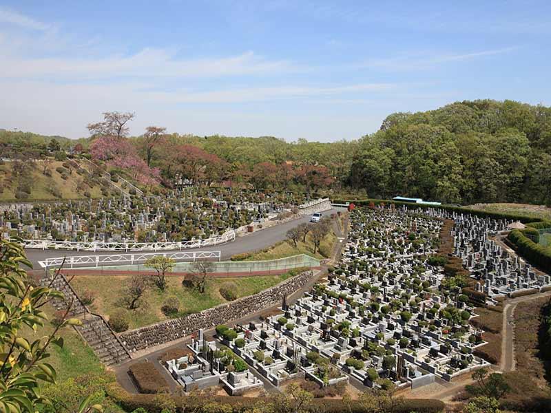 東京霊園 広大な敷地の園内風景②