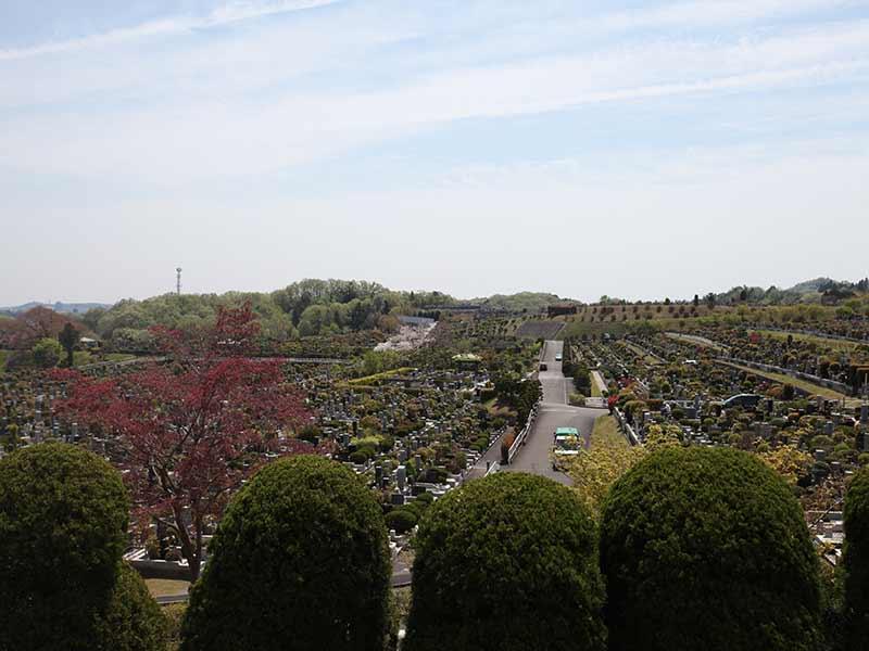 東京霊園 広大な敷地の園内風景③