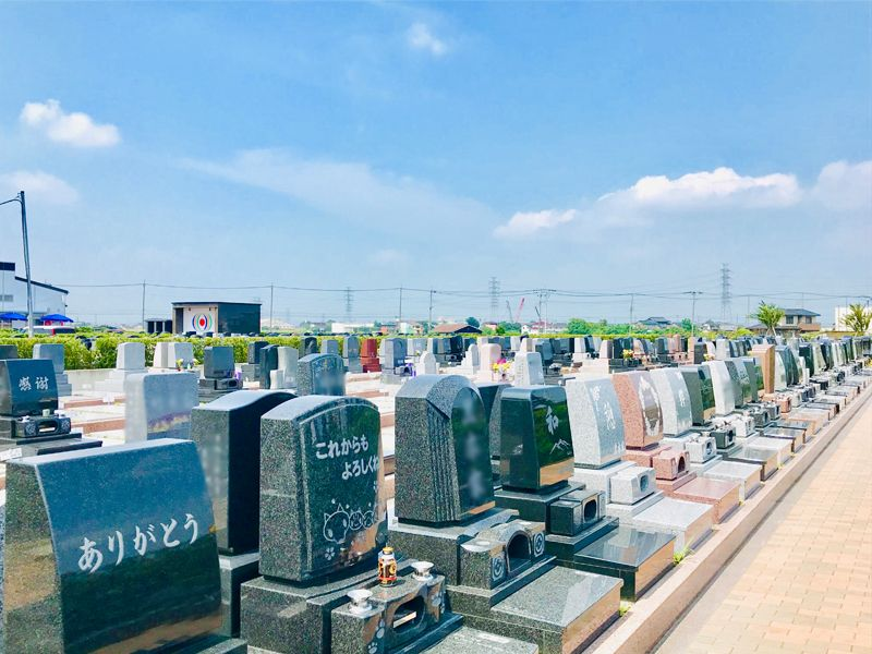 駅前霊園美南 きれいに整備された墓域