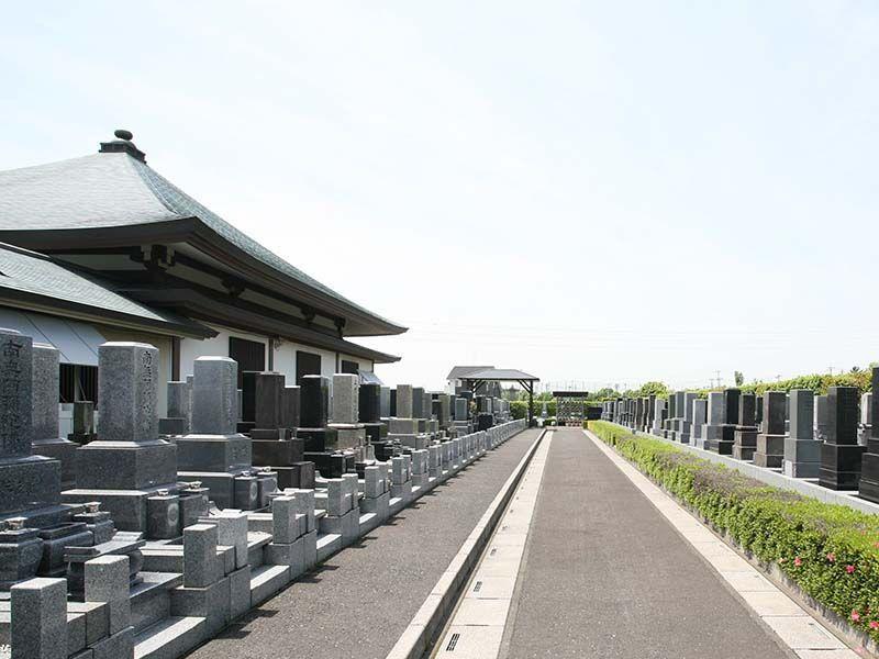 法光寺墓苑 開放感のある墓域