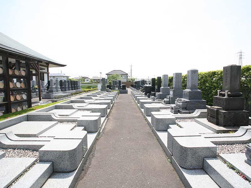 法光寺墓苑 バリアフリーの参道