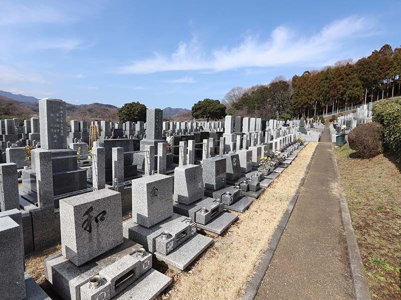 厚木中央霊園 日当たりのよい墓域