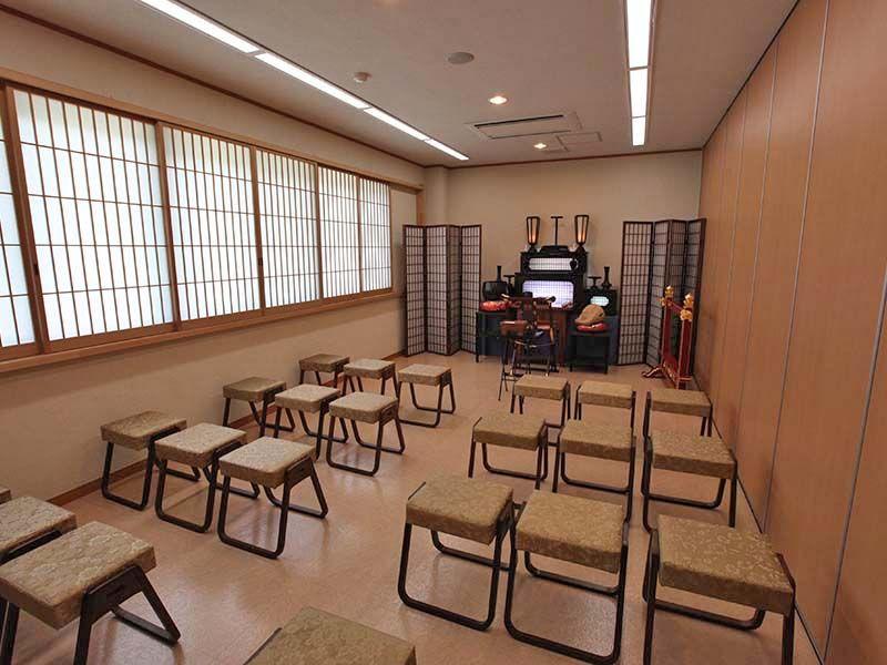 秋川霊園 室内法要施設の様子