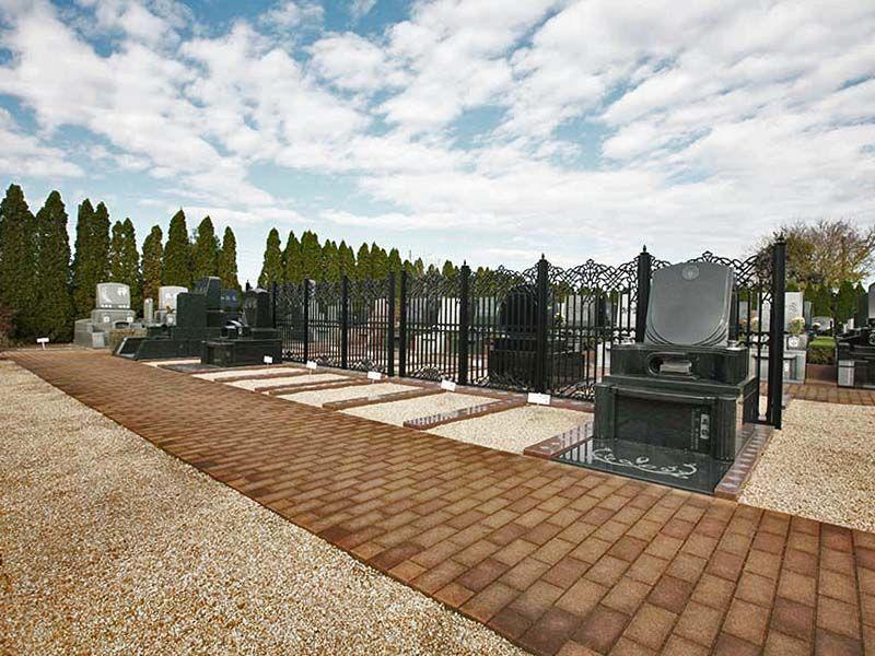北本霊園 近代的なデザイン墓地