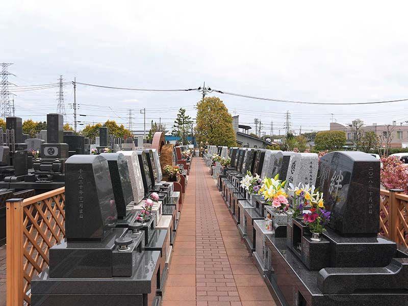 陽光台霊園 洋型墓石