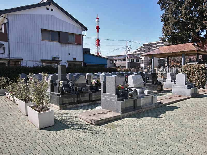 与野正圓寺墓苑 区画整備された墓域