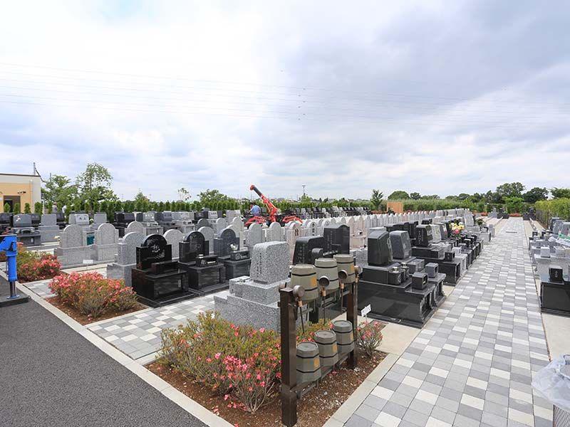 彩光浄苑 ゆとり墓地の全景