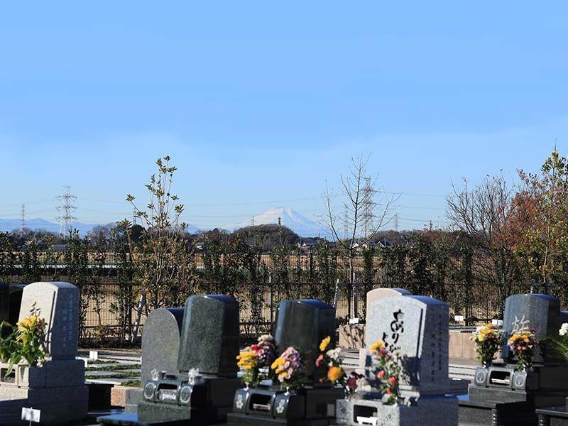 彩光浄苑 苑内から望む富士山