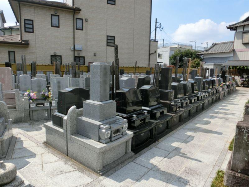 阿弥陀堂墓苑 平坦なつくりの墓域