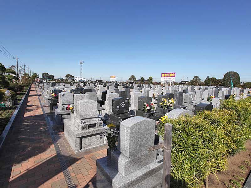 駅前霊園美南 区画整理された墓域