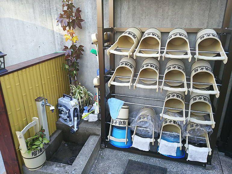 公園墓地 瑠璃光苑 整備された水汲み場