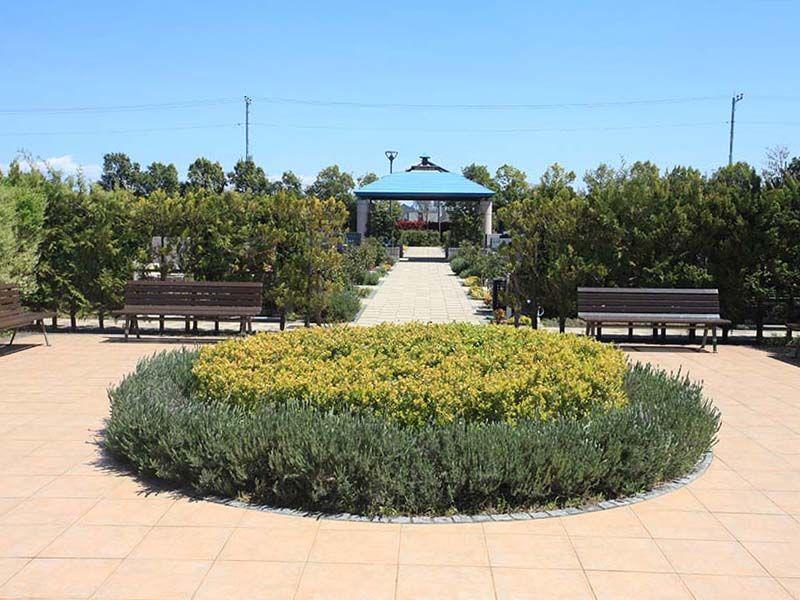 さいたまメモリアルパーク まるで公園のような休憩用ベンチ