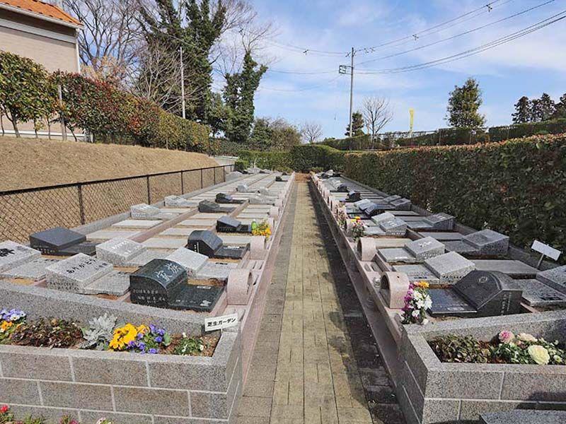アドミール座間 花壇のような墓域
